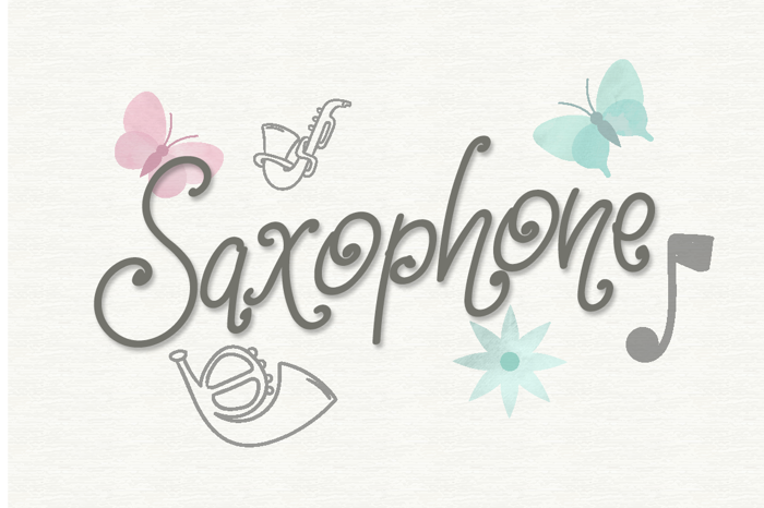 Saxophone Font poster