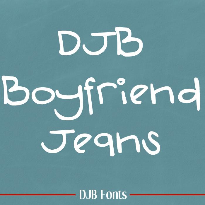 DJB Boyfriend Jeans Font poster