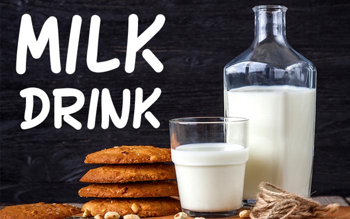 MILK DRINK Font poster