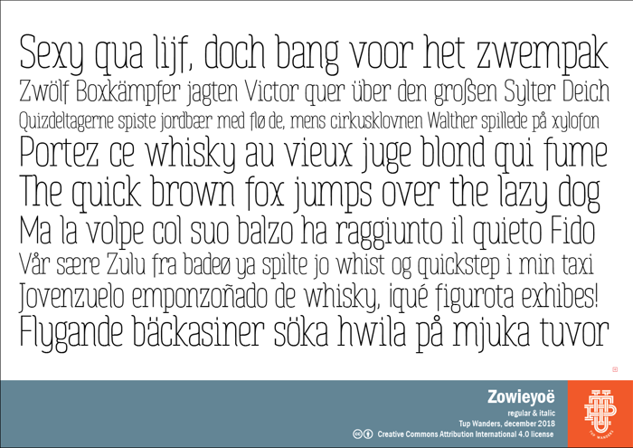 Zowieyoë Font poster