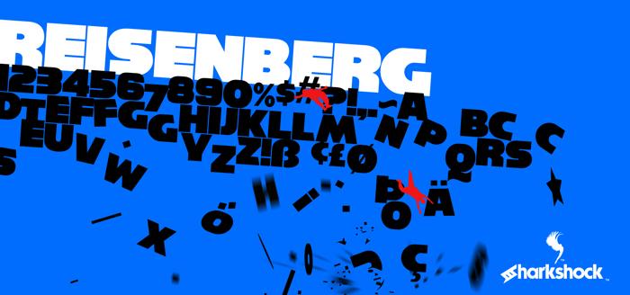 Reisenberg Font poster