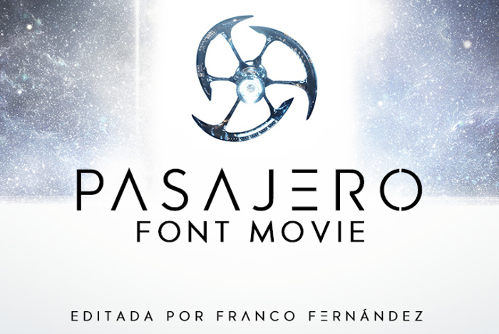 Pasajero Font poster