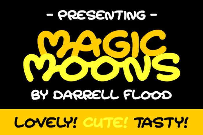 Magic Moonshine Font poster