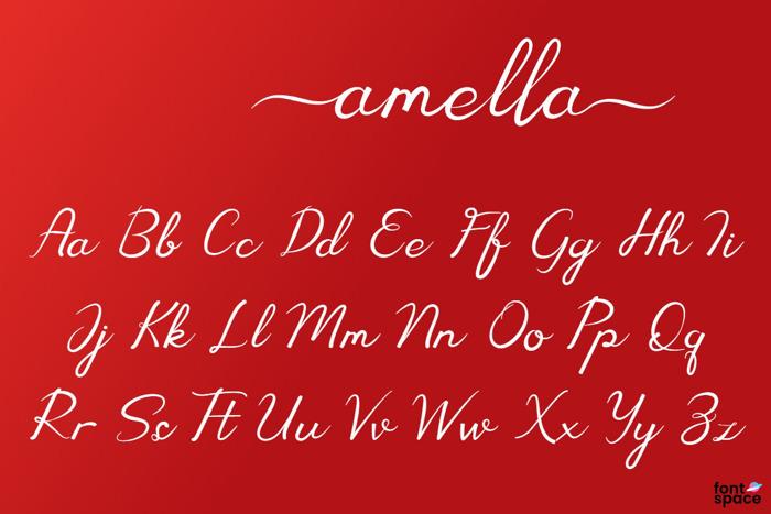 Amella Font poster