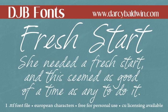 DJB Fresh Start Font poster