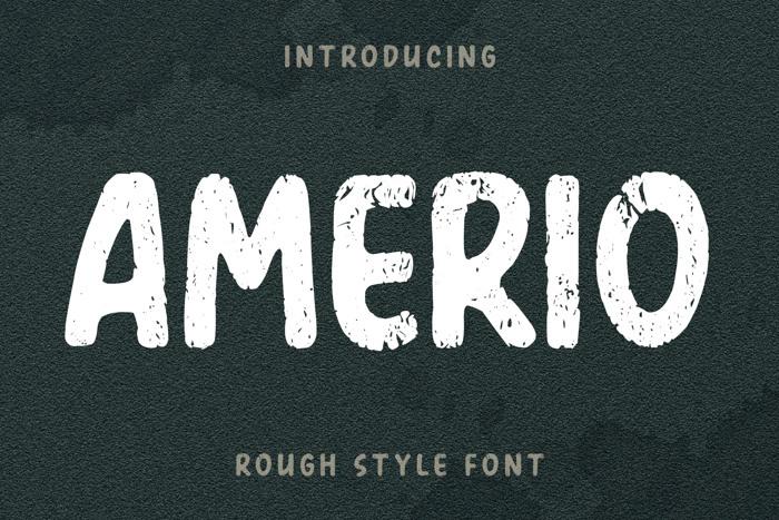 Amerio Rough Font poster