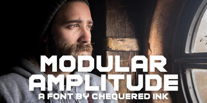 Modular Amplitude Font poster