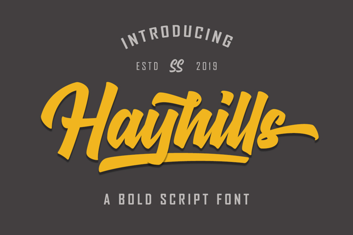 Hayhills Font poster