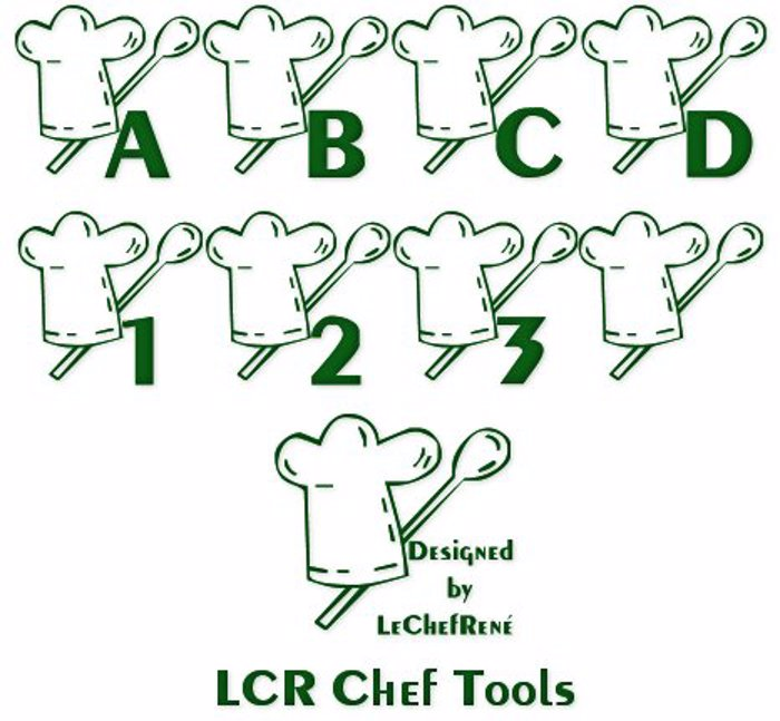 LCR Chef Tools Font poster