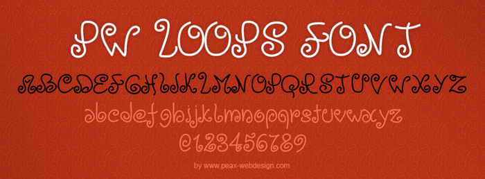 PWLoops Font poster