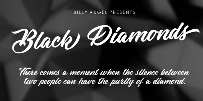 Black Diamonds Font poster