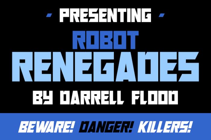 Robot Renegades Font poster