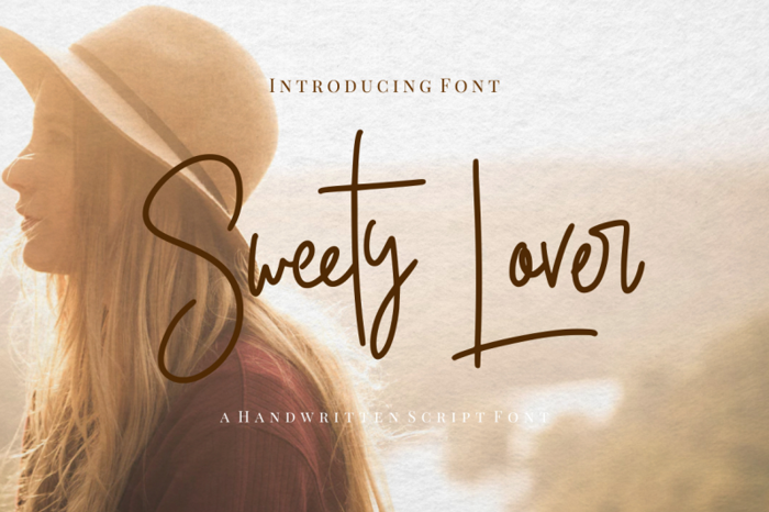 Sweety Lovers Font poster