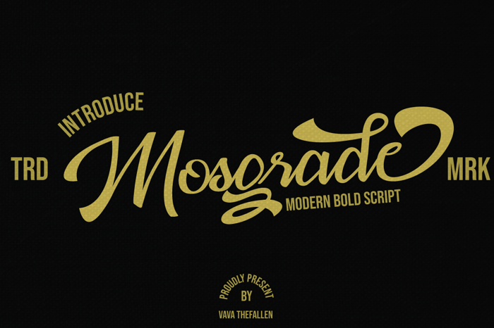 Mosgrade Font poster