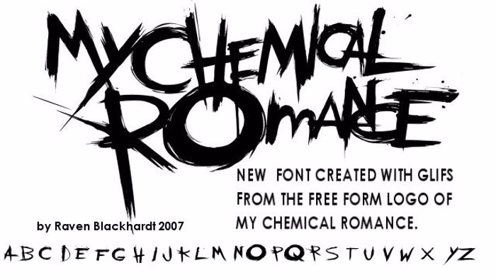the chemical parade Font poster