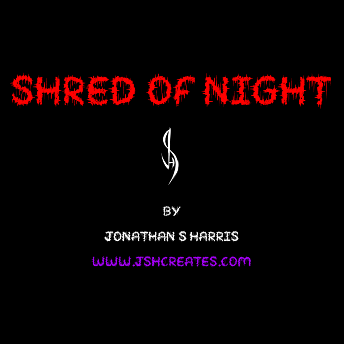 SHRED OF NIGHT Font poster