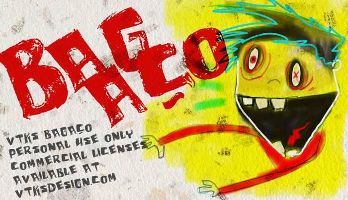 vtks bagaço Font poster