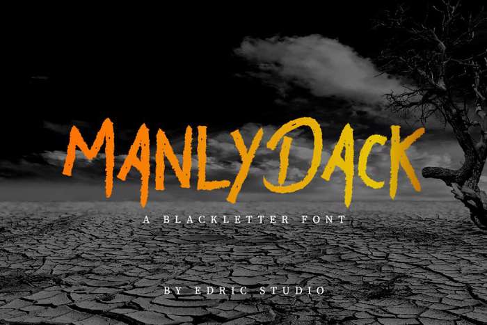 Manly Dack Font poster