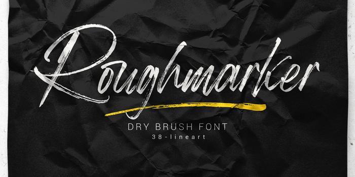 Roughmarker Font poster