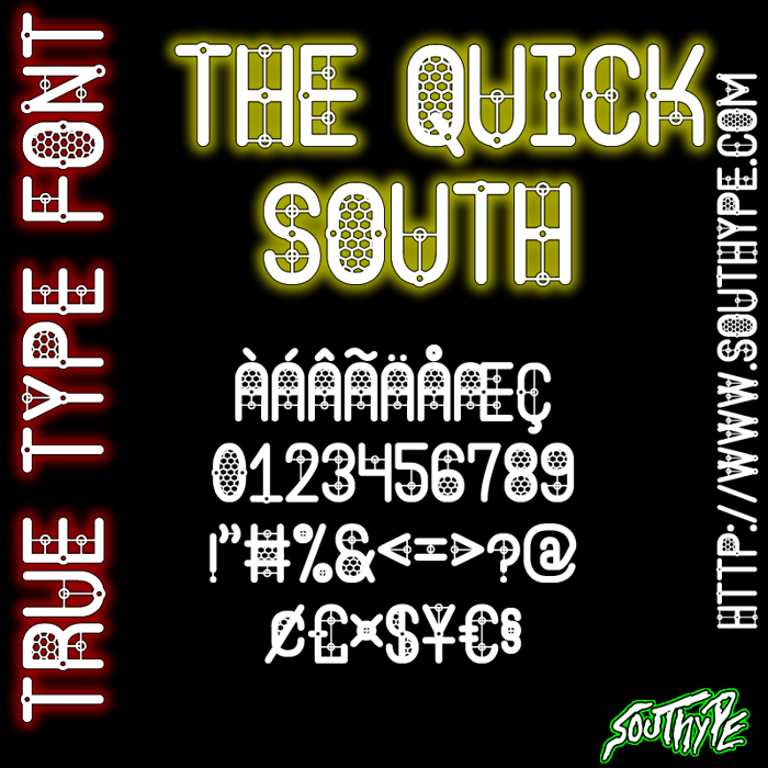 The Quick South St Font poster