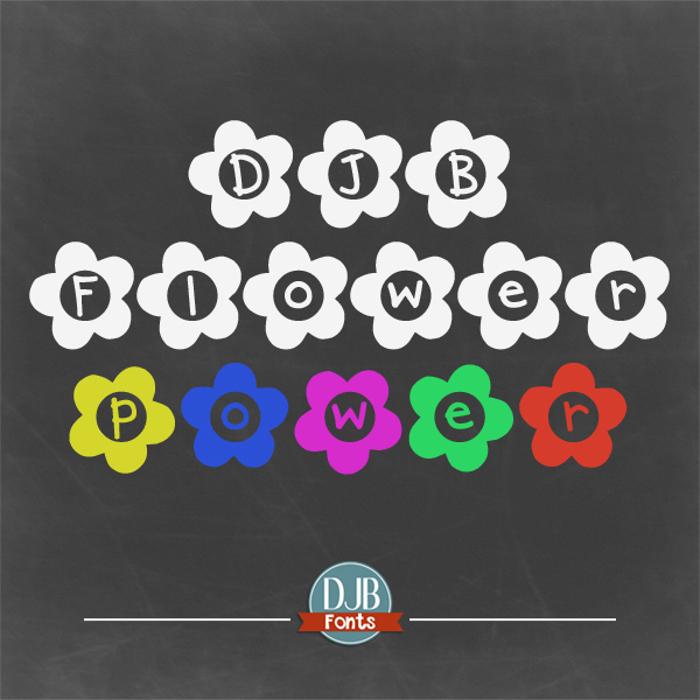DJB Flower Power Font poster