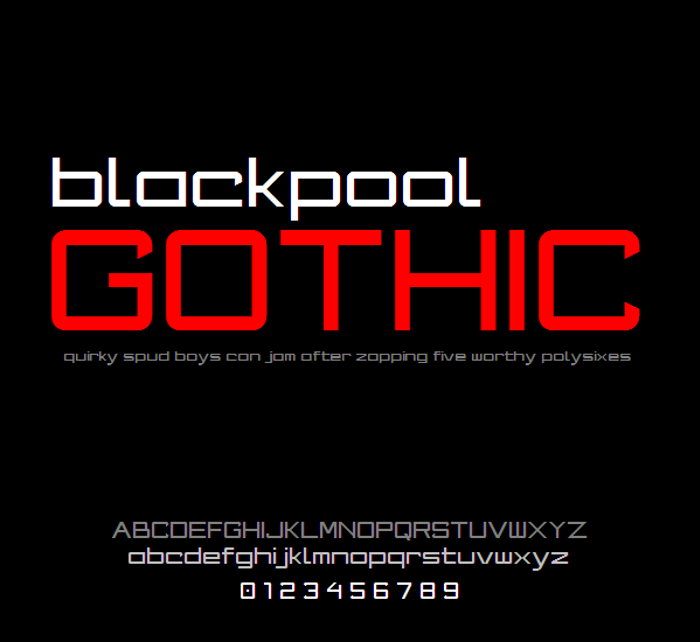 Blackpool Gothic NBP Font poster