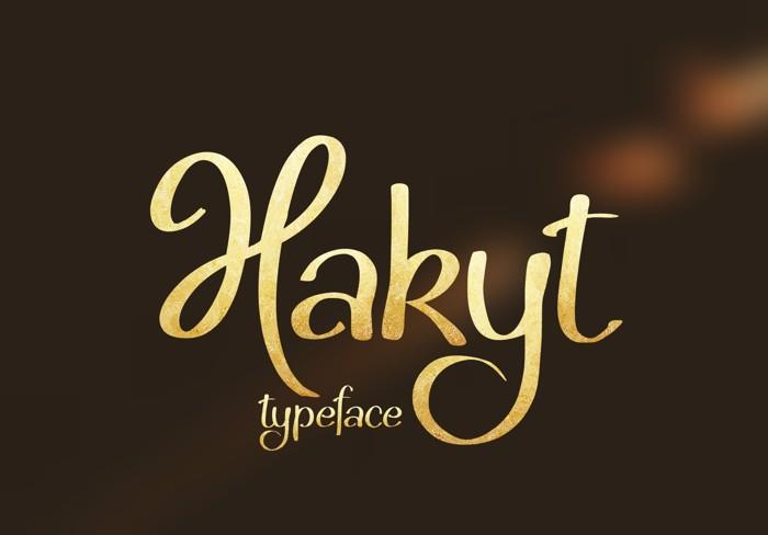 Hakyt Font poster