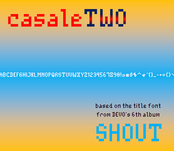 CasaleTwo NBP Font poster