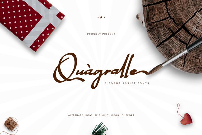Quagralle Font poster