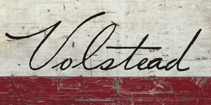 Volstead Font poster