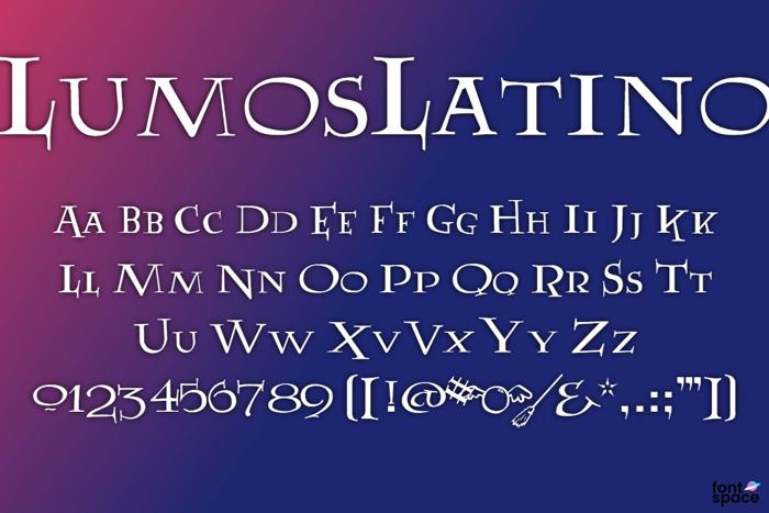 LumosLatino Font poster