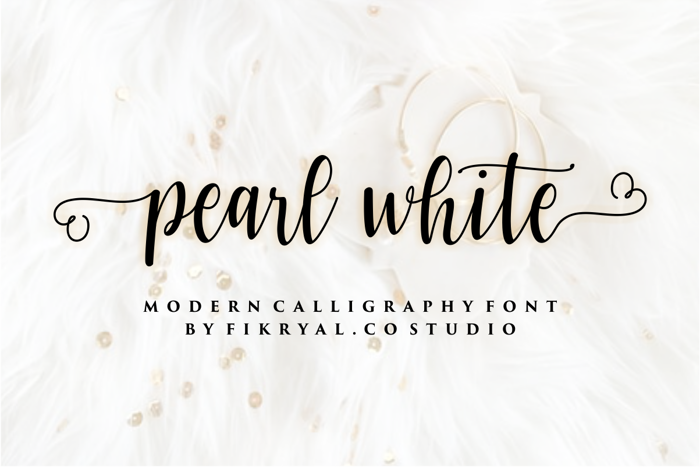 pearl white Font poster
