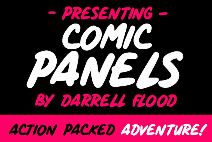 Comic Panels Font poster