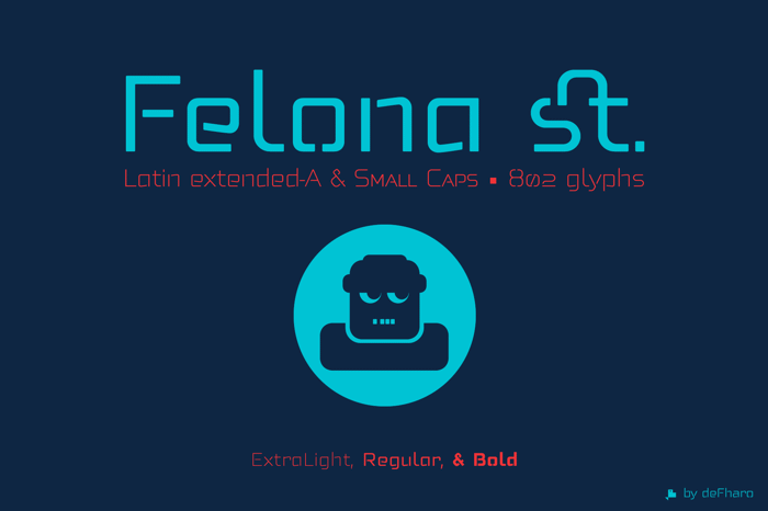 Felona st. Font poster