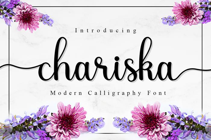 chariska Font poster