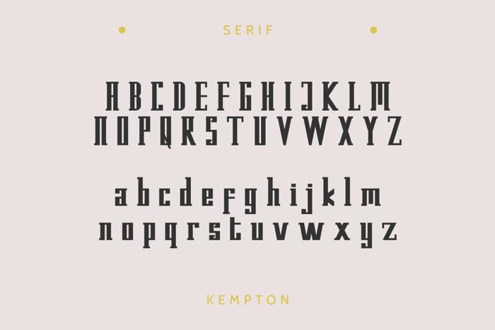 Kempton Serif Font poster