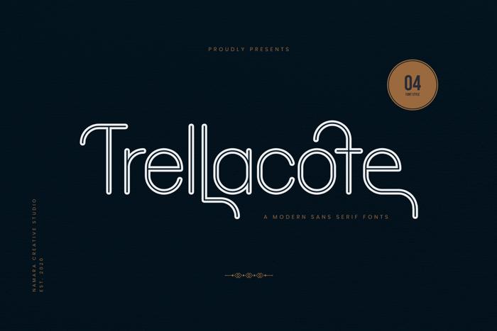 Trellacote Font poster