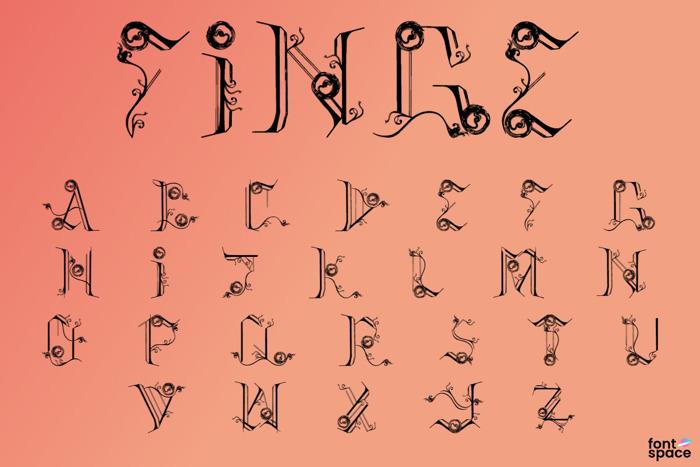 Finge Font poster