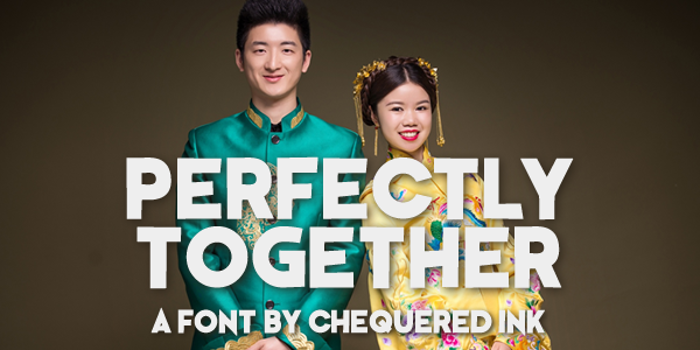 Perfectly Together Font poster
