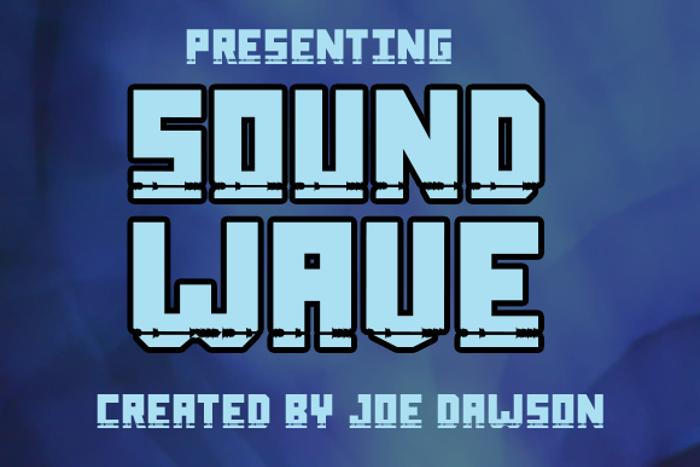 Sound Wave Font poster