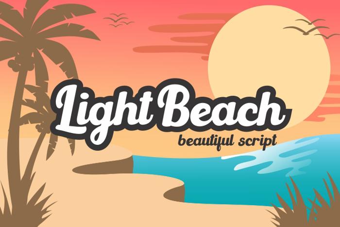Light Beach Font poster