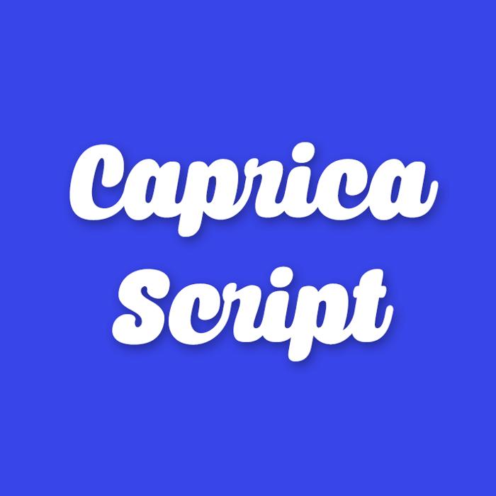 Caprica Script Font poster