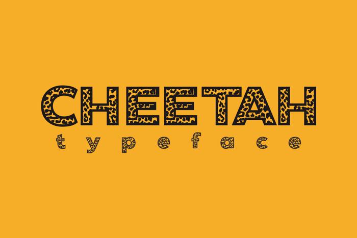 Cheetah Font poster