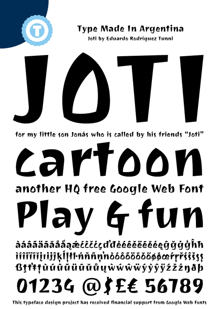 Joti One Font poster