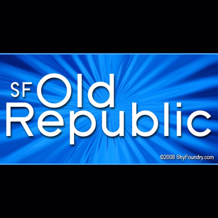 SF Old Republic Font poster