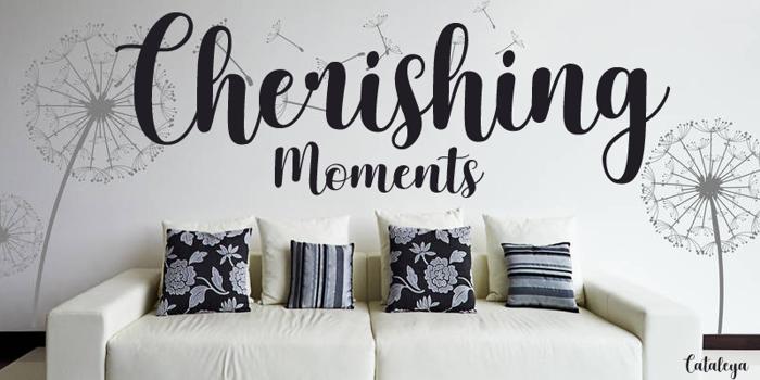 Cherishing Moments Font poster