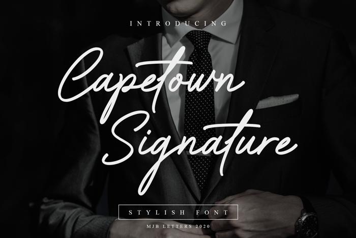 Capetown Signature Font poster