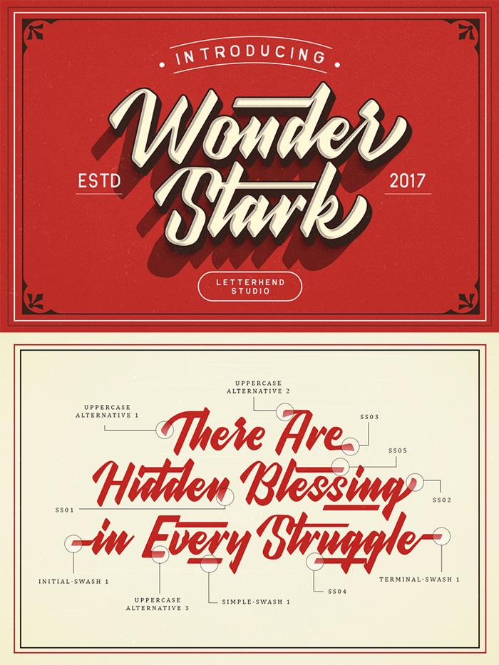 Wonder Stark DEMO Font poster