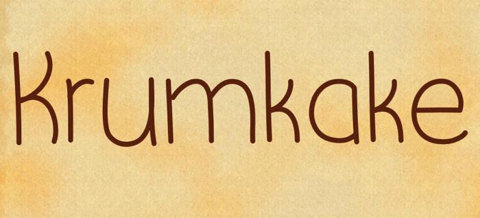 Krumkake Font poster