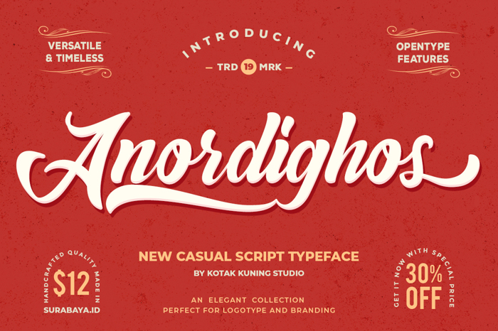 Anordighos Font poster